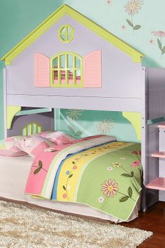 Toddler bed for baby girl ~ Found it at Wayfair - Donco Kids Twin Doll House Loft Bed with Staircase Loft Bunk Beds, Bunk Beds With Stairs, Kids Bunk Beds, Kids Bedroom Sets, Kids Bedroom Furniture, Girls Bedroom, Furniture Decor, Furniture Outlet, Online Furniture