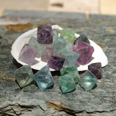 Fluorite Octohedrons for Meditation and Metaphysical Work - Reiki, Wicca, Feng…