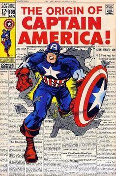 Captain America Vol 1 109. Por Jack Kirby y Syd Shores. #CapitánAmérica #JackKirby