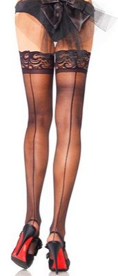 STAY UP Thigh Highs with Backseam ONLY $9!  Stay UP Thigh Highs with Backseam and Lace Top ONLY $9!  http://www.hotlegsusa.com/P/362/LegAvenueSheerStayUpThighHighswithBackseam