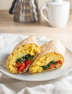 Recipe: Freezer-Friendly Spinach Feta Breakfast Wraps