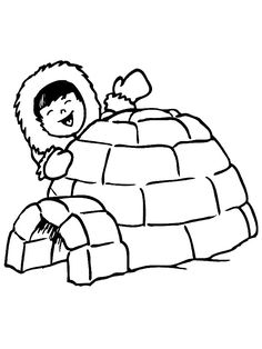 5 Ultimate Igloo Coloring Sheets for Kids - Coloring Pages Polo Norte, Coloring Sheets For Kids, Animal Coloring Pages, Igloo Drawing, Decoration Creche, Artic Animals, Eskimo, Drawing Projects, Animal Crafts