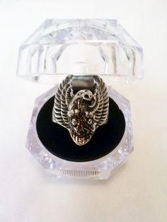 Stunning Men's Stainless Steel Eagle Ring sz. 12