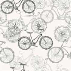 Bicycle wallpaper by Rasch