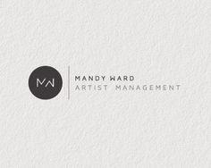 플랫 로고 디자인  monogram logo
