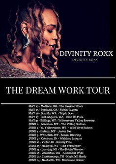 Divinity Roxx: US Summer Tour dates 2017   The weekend that I performed at 'Black Women Rock' was pretty insane. The band and I drove from New York to Columbus OH to perform at a venue called Copious Notes. (10 hours) Show was dope. We even played a lil Prince. A lil Rage and the spot was pretty packed. The opening band was killin' too. Good Times. Well the Air BnB I booked wasn't glorious but all in all it was a good trip. Before the show I presented a Master Class to the students of Fort…