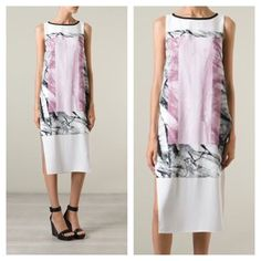 HELMUT LANG Abstract Print Silk Dress $620 NWT 0 Gorgeous printed long dress by Helmut Lang. Brand NWT in Size 0. Please check manufacturer measurements or ask if any questions, as this is a loose fitting piece. Thanks for shopping my closet! Reasonable offers welcome. Helmut Lang Dresses