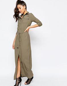Image 4 - Missguided - Maxi robe chemise avec ceinture