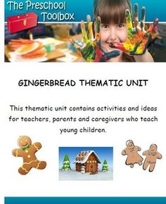 50+ pages of Playful Learning activities to encourage skills with a Gingerbread Man Theme.