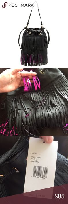 NWT Betsey Johnson Fringy Party Bucket Purse NWT Betsey Johnson Fringy Party Bucket Purse new with tags $118 retail Betsey Johnson Bags Shoulder Bags