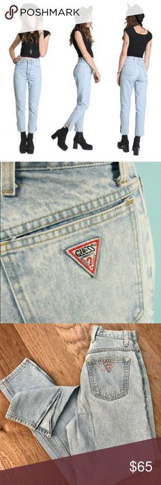 VINTAGE 90's Guess Jeans Original THESE ARE SO INCREDIBLE! They are the original high waisted 1990's Guess Jeans. They have side zippers on the bottom of the legs. These are in high demand right now. Would be a perfect addition to any style influencers closet. Guess by Marciano Jeans