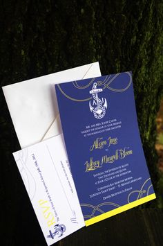Nautical wedding invitations from The Inked Leaf.    www.theinkedleaf.com