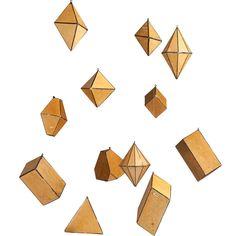 Set of 12 Cardboard Crystal Forms 1