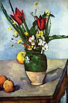 Still Life with Tulips & Apples