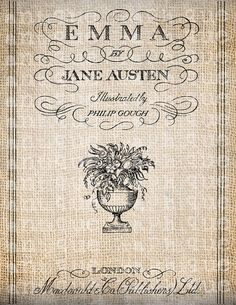 Antique Title Page Emma Jane Austen