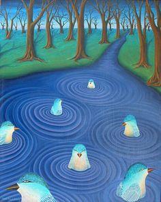 Aquabird Dream, by Robin Urton