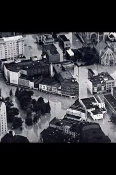 Downtown Wilkes Barre 1972 Agnes Flood