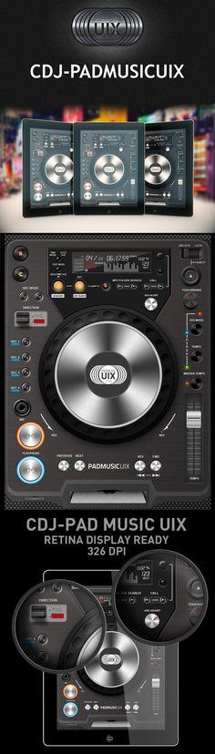 CDJ PADMUSIC - Interface User