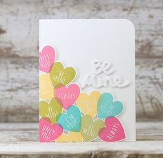 Be Mine Card by Laurie Willison for Papertrey Ink (December 2015)