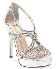 Rhinestone Wedding Shoes - Great Gatsby Bride Style - Wedding Inspiration