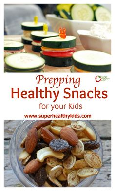 Prepping Healthy Snacks to Have Ready for your Kids. Prep-ahead snacks so you're always prepared for the munchies! http://www.superhealthykids.com/having-snacks-ready/
