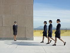 Pozzuoli, Italy, December Cadets walking on the terrace of the Italian Airforce Academy. European People, World Press, Photo Awards, Military Academy, Multiple Exposure, School S, Press Photo, Award Winner, Photojournalism