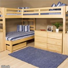 Original Wood Bunk Bed Plans - Instant Download
