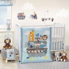 Bedtime Originals Noahs Ark Two By Two Bedding Set Crib Nursery Boy 3 Piece New #BedtimeOriginals