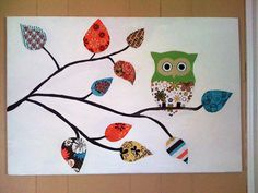 Sold this to my relative in Kansas, for her kids play room! Owl Crafts, Animal Crafts, Preschool Crafts, Owl Art, Bird Art, Owl Bedrooms, Owl Themed Parties, Cute Art Projects, Tree Study