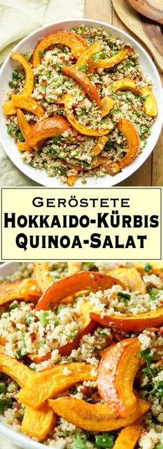 Ein einfaches Rezept für Kürbis- und Quinoa-Salat mit Mandeln voller warmer und reichhaltiger Aromen. Das Rezept ist für 6 Portionen ausgelegt. Wenn dann noch etwas übrig bleibt, kann der Rest auch am nächsten Tag noch kalt oder auf Raumtemperatur gut gegessen werden. Einfache Gesunde Rezepte - Elle Republic