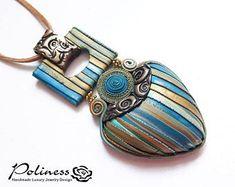 Pendant – Boho jewelry – Pendant in handmade – Gift for her – Women – jewelry in handmade – Blue jeans – Hippie style – Jewelry 2020 Boho Jewelry, Jewelry Shop, Pendant Jewelry, Women Jewelry, Jewelery, Polymer Clay Creations, Polymer Clay Jewelry, Jewelry Making Kits, Jewellery Making