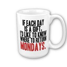 I Hate Mondays Coffee Mug #zazzle #mug #funny