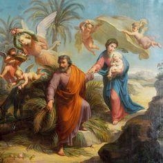 Flight to Egypt of the Holy Family  Église du Gesu, Montreal, Québec, Canada.