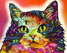 Another Colorful Abstract Cat