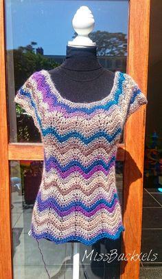 Crochet chevron top www.Facebook.com/MissBackxels