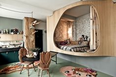Whimsical Decor By Nathalie Lete, Kinderzimmer, kids room Living Spaces, Living Room, Deco Design, Home And Deco, Studio Apartment, Kids Bedroom, Interior Inspiration, Interior Architecture, Sweet Home