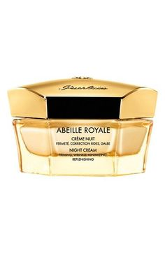 Free shipping and returns on Guerlain 'Abeille Royale' Night Cream at Nordstrom.com. This night cream by Guerlain optimizes your skin's ability to renew itself while you sleep so that each day upon waking your skin is smoothed, your features clearer and your facial contour redefined. It contains a repairing concentrate, which optimizes night repair, while its texture, enriched with beeswax, melts into your skin to bring instant comfort and definition. Bee products are some of the ...