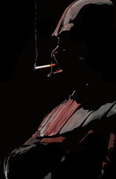 Darth Vader: The Smoke Break (hate smoking but cool image even w/o the cigarette)