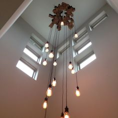 Items similar to Custom to order Showpiece Live Edge Slab Light Fixture with LED Edison bulbs Twisted Fabric Wire Chandelier Details in description* on Etsy Farmhouse Light Fixtures, Farmhouse Lighting, Rustic Lighting, Shop Lighting, Lighting Ideas, Entryway Lighting, Wire Chandelier, Industrial Chandelier, Contemporary Chandelier