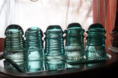 Antique Glass Pony Insulators CD 106 & 145 Brookfield, Hemingray, O. V. G. Co., & Star Glass Companies