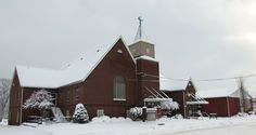 Snowy, cold and beautiful.  South Parkersburg UMC in Parkersburg, WV.