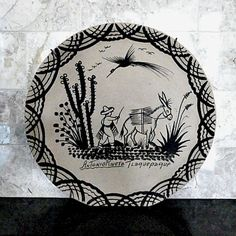 Mexican hand painted folk art plate.