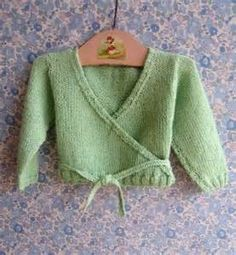 Free Knitting Pattern for a Ballet Wrap Cardigan for Toddlers knitting Pi...