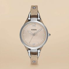 Fossil Georgia Leather Watch – Sand...yet another thing i need to save my pennies for.  :)