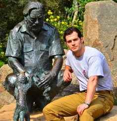 "Henry Cavill at Durrell wildlife park. Pic: Durrell Superman actor and Jersey native Henry Cavill says he is ""enormously proud"" to be an ambassador for the Durrell Wildlife Conservation Trust. Superman Actors, Henry Superman, Batman Vs Superman, Henry Caville, Love Henry, King Henry, Wildlife Park, Wildlife Conservation, Gerald Durrell"