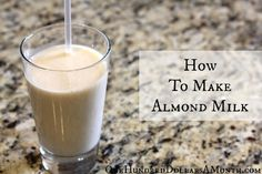 how to make almond milk recipe: One Hundred Dollars a Month