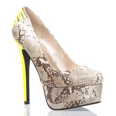I am looking for a pair of fabulous heels for a party I am going to next weekend!! I want yellow...and came across these...what-d-ya-think??