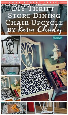 ART IS BEAUTY: DIY Thrift Store Dining Chair Upcycle
