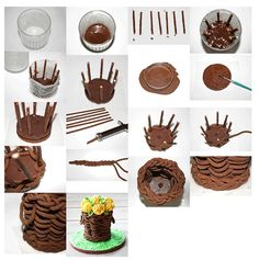 Chocolate Design Ideas Extraordinary Straw Hat  Cake Tutorials And Tips  Pinterest  Straw Hats Cake . Inspiration