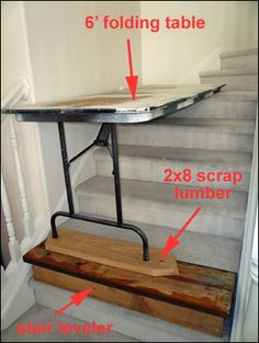 painting a ceiling above stairs | Ladder To Paint Above Stairs http://daddyforever.com/2009/09/30/stairs ...